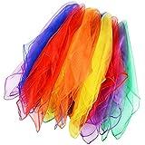 Lalang 12 x Tanz und Jongliertücher Gymnastiktücher Tanztücher Chiffon 6 Farben