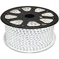 [Patrocinado]OUMIZHI-Impermeable 220V IP65 SMD 2835 Franja del LED Franja del LED Franja del LED Franja de la tira Superhell (60 LED / metro) (20m blanco) [Clase de energía A +]