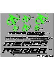Ecoshirt 1E-4EG1-4YUM Pegatinas Merida R63 Vinilo Adesivi Decal Aufkleber Клей MTB Stickers