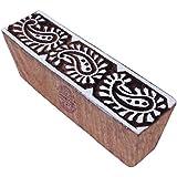 Jaipuri Paisley Design Border Wooden Fabric Printing Block