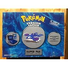 game boy advance sp super pak pokemon saphir édition limitée