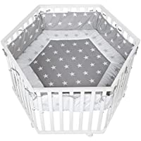 Parc hexagonal collection 'Little stars' Roba 120x72cm - Blanc