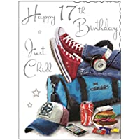 Happy 17th Birthday - Just Chill - Card.
