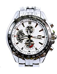 amazon co uk curren watches curren silver white quartz movt boys mens watch stainless steel band date