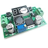 HiLetgo® 2 unidades DC-DC LM2596 módulo de alimentación de paso abajo ajustable con medidor de voltaje pantalla FREE Studs