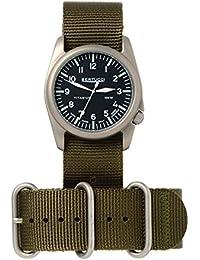 Bertucci h13462Unisex titanio patrimonio verde oliva banda negro Dial reloj