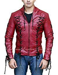 Arrow Arsenal Roy Harper Colton Haynes Hooded Synthetic Leather Jacket
