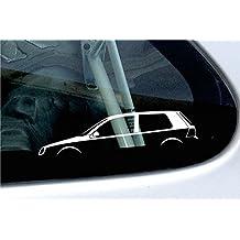 2x Car silhouette Stickers - based on VW Golf mk4 R32, GTI