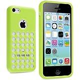 vau iPhone 5C Case - punched green - TPU Silikon-Case, Tasche für Apple iPhone 5C