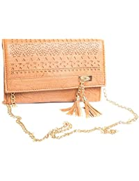 Brown Hand Bag With Chain