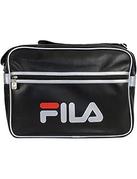 Fila Docena Large XS13ESU027 Messenger Bag Schultertasche Schwarz Silber