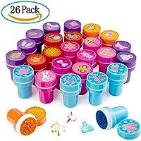 Diealles Giocattoli di Timbro, 26pcs Auto Inchiostrazione Plastica Stampatori per Bambini Fai Da Te Artigianato Educativo (Principessa)