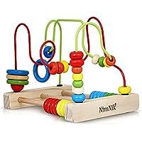 Classic Bead Maze Cube juguetes para bebés Pequeños niños Roller Coaster Beads Juguetes de aprendizaje temprano para niños de 3 años de NimNik