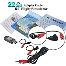 22 in 1 RC Flight Simulator Adapter Cable for G7 Phoenix 5.0 XTR VRC Transmitter, Flysky Frsky Remote Controller FPV Racing by LITEBEE