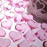 30x Dekosteine FUNKELNDE Herzen 22mm EinsSein® rosa Dekoration Streudeko Konfetti Tischdeko Hochzeit