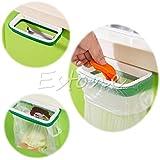 rivalty (TM) Papelera trasera estilo se para puerta de armario de cocina rack de almacenamiento de soporte para bolsa de basura