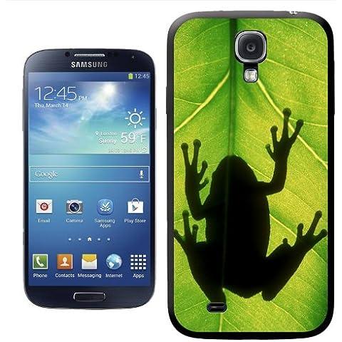 Frogs-Cover rigida per Samsung, modelli, PLASTICA, Gray Tree Frog Silhouette, Samsung Galaxy S4 (i9500)
