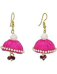 5120669182f9 Banithani Joyería del tono indio del oro de las mujeres de seda del hilo  cuelga el