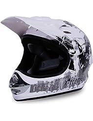 Motorradhelm X-treme Kinder Cross Helme Sturzhelm Schutzhelm Helm für Motorrad Kinderquad und Crossbike in weiß