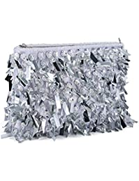 8c2d5e6b6e6e5 Damen Abendtasche Clutch Pailletten Umhängetasche Kleine Handtasche  Schultertasche Kette Tasche…