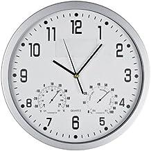 Grande orologio da muro parete colorato Silenzioso con piastra removibile per logo o fotografie