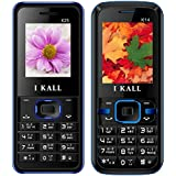 I KALL K25(Blue) And K14(Blue) Combo Of Dual Sim Mobile, 1000 MAh Battery Capacity With 101 Days Replacement Warranty With 1 Year Manufacturer Warranty