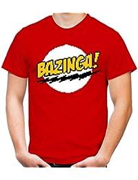 8 Bit Bazinga T-Shirt | The Big Bang Theory | Fun - red