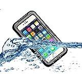 غطاء حماية بتصميم متين مقاوم للماء مع واقي للشاشة لهاتف ابل ايفون 6 بلس بقياس 5.5 انشات - اسود
