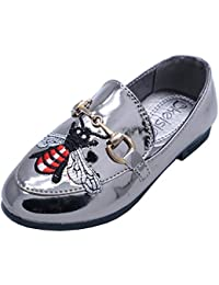 317ac86de HeelzSoHigh Girls Kids Childrens Slip-On Pewter Pumps Dolly Smart Flat  Loafers Brogues Shoes Sizes