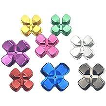 JYR 2Peaces Aluminium Métal Boutons Cap Croix fléchées Key Bouton de remplacement pour les contrôleurs Playstation 4 PS4 or