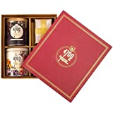 4700BC Popcorn: Diwali Gift Box, 3 Tins, 1 Cheese Popcorn, 1 Caramel Popcorn, 1 Chocolate Popcorn and a Premium Diwali Candle