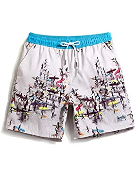 HAIYOUVK Can Be Launched Into A Quick-Drying Large Size Beach Pants Male Pants Pants Summer Printed Shorts Loose...