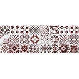 VINILIKO, Alfombra de vinilo, Port Grimaud, Rojo, 50x140 cm