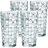 Goldstar Crystal Check Cut Glasses 6 Pcs Set | Water Glasses Juice Glass | Whisky Glasses | 6 Pcs Set 315ml