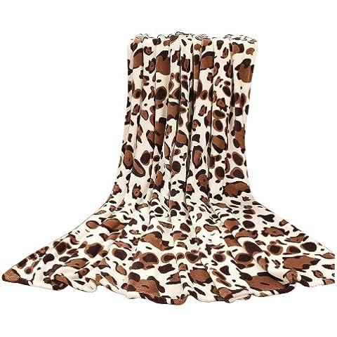 Euphoria Calitime Lanza Súper Suave Manta, Snow Leopard, Lanzar 230cm X 200cm