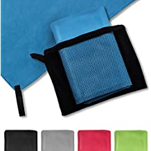 casa pura® Mikrofaser Handtuch Magic Dry | in 5 Farben und 2 Größen | schnelltrocknend | platzsparend in Netztasche unterbringbar