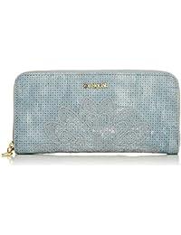 2076708f35 Desigual Wallet Atila Fiona Women - Portafogli Donna, Blu (Azul Palo),  2x10x20