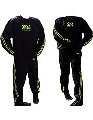 2Fit Sauna Sudor Traje De Ejercicio Gimnasio y Fitness traje de pérdida de peso Adelgazante Sauna Sauna Traje de baño Track Suit anti-rip, mujer hombre