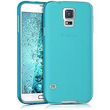 kwmobile Funda de TPU silicona chic y sencilla para el > Samsung Galaxy S5 / S5 Neo / S5 LTE+ / S5 Duos < en azul