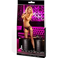 Lap Dance, Women's Industrial Net Mini and Thigh High, One Size, Black