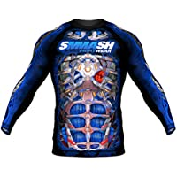 SMMASH Rashguard FIGHT MACHINE ELECTRIC Manga Larga S M L XL XXL XXXL MMA BJJ UFC K1 (S)