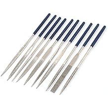 10 piezas 140 mm X 3 mm cuadrado equivalente de señal de redondo en forma de triángulo y limas de diamante