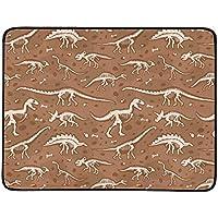 WOCNEMP Jurásico Huesos de Dinosaurio Esqueleto Arqueología Antigua Manta portátil y Plegable Estera práctica de 60x78