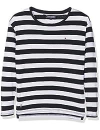 Tommy Hilfiger Mädchen Langarmshirt Ame Girls Stripe Cn Knit L/S