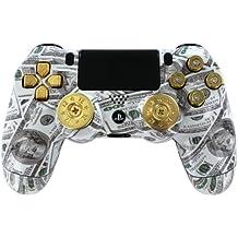 """Money Talks w/ShotGun Thumbsticks and Real Gold 9mm Bullet Buttons"" PS4 Custom"