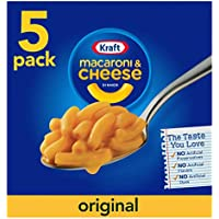 Kraft - Mac con queso original de un 7,25 oz, 5 qt