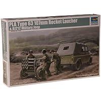 Trumpeter - Lanzacohetes de 107 mm con Jeep BJ212 - 02320
