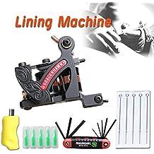 Dragonhawk New Tattoo Machine 4 Kinds Gun Needles Tips Grip Kit (Lining Machine)