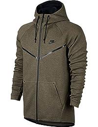 Sudadera capucha Nike – Sportswear Tech Fleece Windrunner verde/negro talla: XL (X-Large)