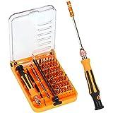 KYG 45 en 1 Destornilladores de Precision-Herramientas de Reparación Kit de Fijación para SmartPhone Ordenador Portátiles Relojes etc Color Naranja